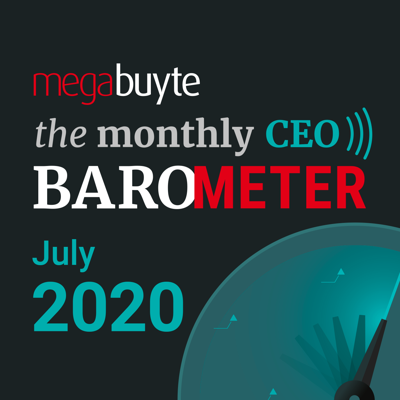 Cover art for Megabuyte CEO Barometer – July 2020 update