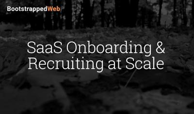 Cover art for SaaS Onboarding & Recruiting at Scale