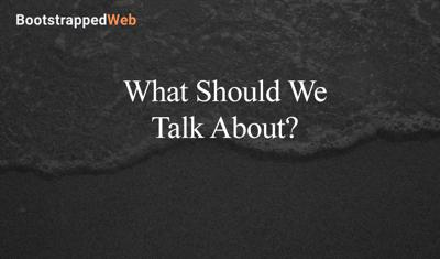 Cover art for What Should We Talk About?