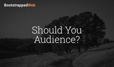 Cover art for Should You Audience?