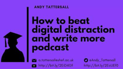 Cover art for How to beat digital distraction and write more episode 6 - Beat digital distraction by leaving your desk