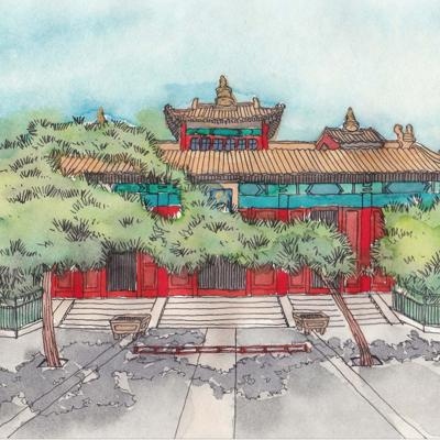 Cover art for 10 Lama Temple (雍和宫)HSK 1 (elementary Chinese)