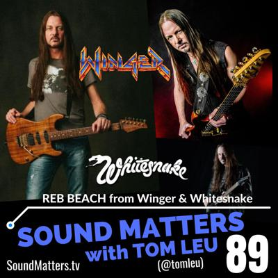 Cover art for 089: Reb Beach from Winger, Whitesnake, & Black Swan