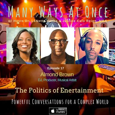 Cover art for The Politics of Entertainment w/ Almond Brown