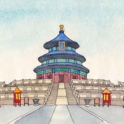 Cover art for 6 Heavenly Temple (天坛) HSK 1 (elementary Chinese 1)