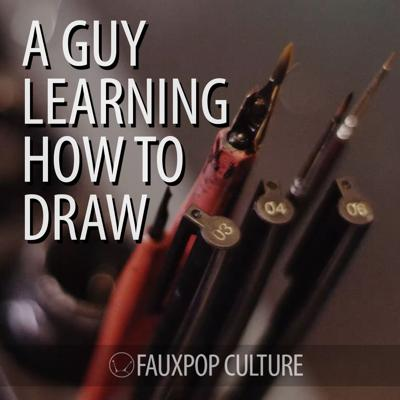 A Guy Learning How To Draw