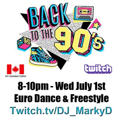 Cover art for MARKY D Presensts Euro & Freestyle - The All Canadian Edition