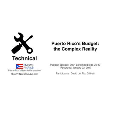 Cover art for Puerto Rico's Budget: the Complex Reality
