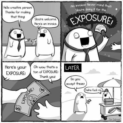 Cover art for Exposure Can't Pay the Bills