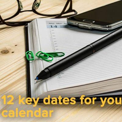 12 Key Dates For Your Email Calendar - 20:06:2017, 13.49