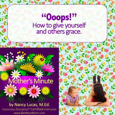 Cover art for Mom'sMinute01: Oops You're Beautiful - how to give yourself grace