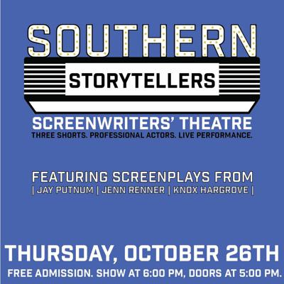 Cover art for Jay Putnam and Allison Shrum talk Screenwriters' Theatre with Director Nathan Edwards