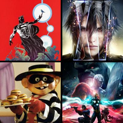 Cover art for Threadcast EP 30 - Random stories, DC and Marvel comic events, Final Fantasy XV