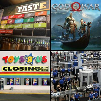 Cover art for Threadcast EP 33 - God of War, Green Flash Brewery, Toys'R'Us closures, TSA stories, fighting games