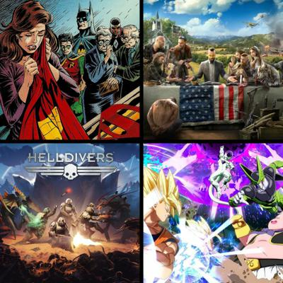 Cover art for Threadcast EP 34 - Batman, DC animated films, Helldivers, Farcry 5, Dragon Ball FigtherZ, God of War