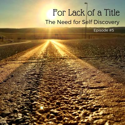 Cover art for The Need for Self Discovery