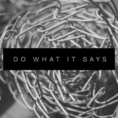 Cover art for Do What It Says - Tom Curee