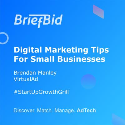 Cover art for Digital Marketing Tips For Small Businesses - Brendan Manley - VirtualAd