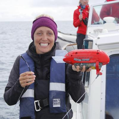 Cover art for Arctic Terns, Basking Sharks & Bluefin Tuna - with Dr. Lucy Hawkes