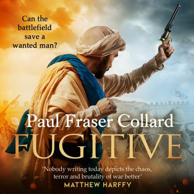 Cover art for FUGITIVE by Paul Fraser Collard, read by Dudley Hinton - Audiobook extract