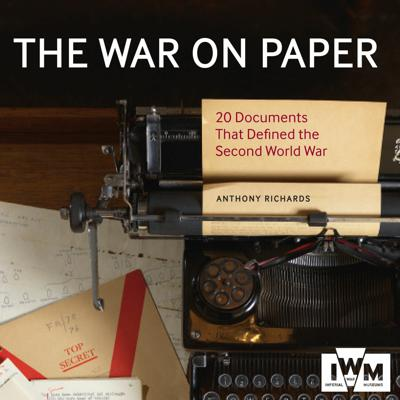 Cover art for THE WAR ON PAPER by Anthony Richards, read by Ric Jerrom - Audiobook extract