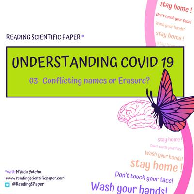 Cover art for Understanding COVID-19: Conflicting names or Erasure? [#03]