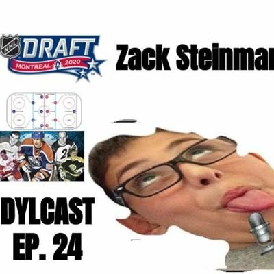 Cover art for Dylcast ep. 24 about NHL all-time fantasy draft & 2020 NHL draft w/ Zack Steinman