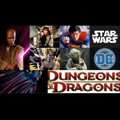 """Cover art for The BizzleCast Retro: """"Critical Crossover"""" PART 1: DC and STAR WARS meet Dungeons & Dragons!"""
