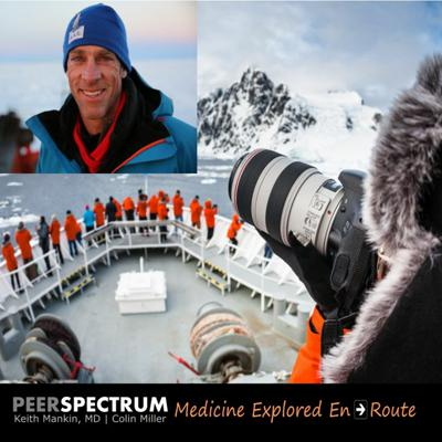 Cover art for Mountaineering, photography and the Dalai Lama. Emergency and expedition doctor, Andrew Peacock, MD.