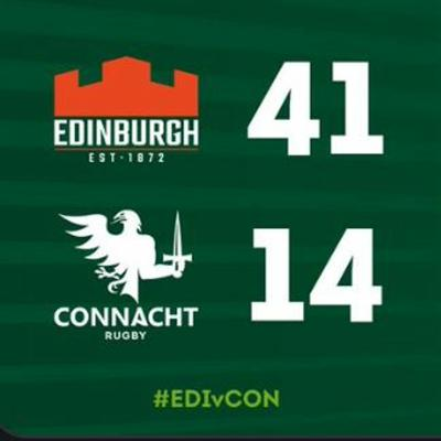 Cover art for Edinburgh away review - Craggy Rugby podcast Connacht coverage S5E34