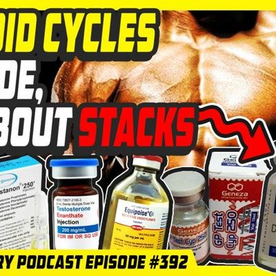 Cover art for Evolutionary.org Podcast #392 - Steroid Cycles episode, all about stacks