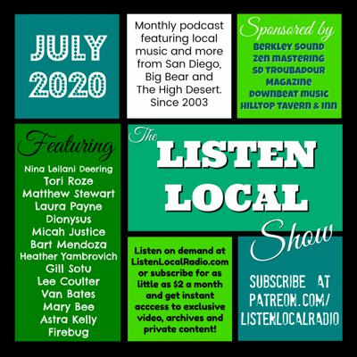 Cover art for July 2020 Listen Local Show