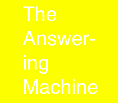 Please go to the most updated Answering Machine page, featuring the LATEST EPISODES!  Also, SUBSCRIBE ON ITUNES  http://www.soundcloud.com/answeringmachinepodcast2