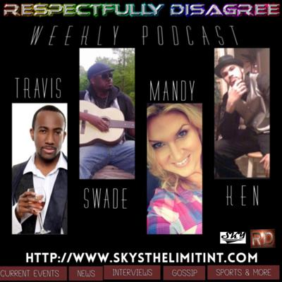 Join us in our weekly Podcast show with your host Travis, Swade, Mandy and Ken as we discuss current events, celebrity gossip, interviews, sports and MORE! In the past incarnation we have interviewed people such as MC Lyte, Que of Day 26, Terrance Dean, Yaniv Moyal, Rebbeca Scott, Antomio Ramsey and others. We discuss lighthearted subjects as well as controversial. If you care  to disagree, let's do it respectfully.