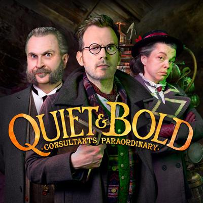 Quiet & Bold is a comedy audio series from creators Greig Johnson and Chris Lackey! Influenced by Lovecraftian weird tales and occult science, Quiet & Bold follows the investigations of Dr. Silence Quiet and Randolph Bold as the fight the supernatural forces of evil with mad science and occult mysticism!