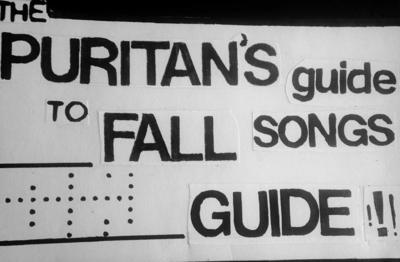 The Puritan's Guide to Fall Songs Guide