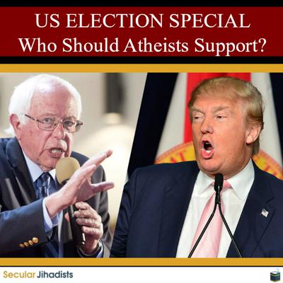 Cover art for EP134: US ELECTION SPECIAL: Who Should Atheists Support?