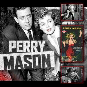 Perry Mason is a fictional defense attorney who originally appeared in detective fiction by Erle Stanley Gardner. This long running radio drama had several actors who played the famous lawyer starting  with Bartlett Robinson and then followed by Santos Ortega, Donald Briggs, and finally John Larkin who played the famous attorney after 1947. The radio portrayal of  Perry Mason is a far more involved lawyer then the one who became famous on TV, the radio version  would rather swap gunshots with evildoers than sit in a boring courtroom, waiting for the deliberation!  The show was only 10 minutes and was more intense and favored action than courtroom drama. Perry Mason ran 12 seasons and moved to TV in the late 1950's with the now famous portrayal by Raymond Burr. Each show follows a continues story line similar to soap operas. Join us as we join Perry Mason in crime mysteries and court room drama.
