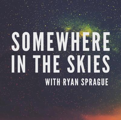 Cover art for SOMEWHERE IN THE DARK SKIES with Andrew Sanford