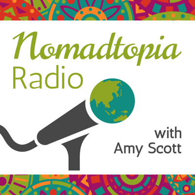 Nomadtopia Radio features interviews with people all over the world who have created their ideal lifestyle through location independence, long-term travel, living abroad, and more. Guests run the gamut from serial expats to slow travelers, digital nomads, location-independent entrepreneurs escaping winter, families traveling overland (and homeschooling!), solo backpackers and road-trippers... you name it. Their stories highlight all the different ways to explore the world, live and work on your own terms, and have the freedom and flexibility to create the lifestyle that matters to YOU.   Join us to learn about the ins and outs of daily life on the road and back at home; nitty-gritty details of living and working anywhere in the world, like banking, technology, what to do with your stuff, and having a home base (or not); getting started and making it happen; and much, much more.   This podcast is hosted by veteran traveler, expat, digital nomad, and location-independent online entrepreneur Amy Scott, founder of Nomadtopia.com, where you can access resources, community, and inspiration for creating and savoring the life your nomadic soul craves.