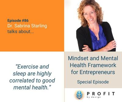 Cover art for 86: Mindset and Mental Health Framework for Entrepreneurs