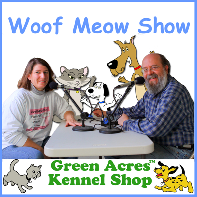 The Woof Meow Show, airing since 2004, is hosted by Don Hanson and Kate Dutra of the Green Acres Kennel Shop in Bangor, Maine. The show focuses on educating people about dogs and cats, their behavior, health care, nutritional needs, and their relationship with their people. Guests range from local veterinarians to authors and experts in their fields from around the US.