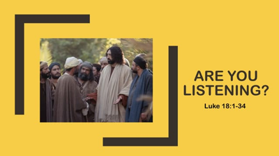 Cover art for Are You Listening? - The Gospel of Luke - Audio
