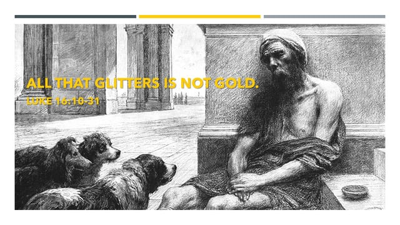 Cover art for All that Glitters is not Gold - The Gospel of Luke - Audio