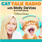 Cat Talk Radio is all about cats, what makes them do what they do, why they occasionally misbehave and what cat guardians can do to fix it. We educate you on how to modify unwanted cat behavior by providing the proper environment and stimulation, enabling cats to express their natural behaviors in ways that are preferable for both the humans and cats. You will learn how to have fun with your cat, fascinating cat facts and be inspired to try new things, which will lead to a happier relationship and closer bond with your cat. We'll also call attention to the plight of cats in our country, feel compassion for their challenges and share the message.