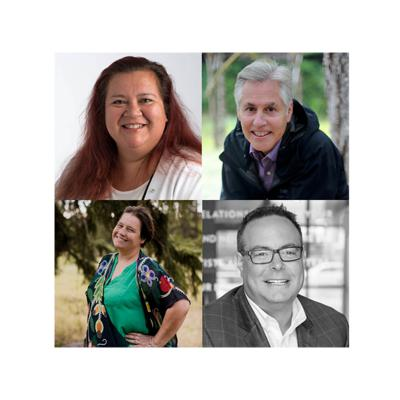 Cover art for Virtual Event: Indigenous Capitalism, Panel: Former Chief Kim Baird, Professor John Borrows, Bonnie Leask, Sean Willy, Moderated by Karen Restoule