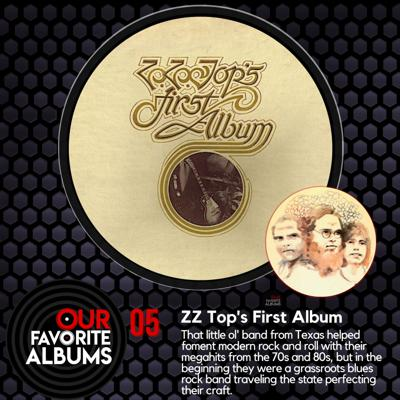 Cover art for EP05:  ZZ Top's First Album (1971)