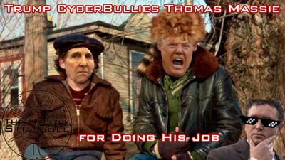 Cover art for Trump CyberBullies Thomas Massie for Doing His Job