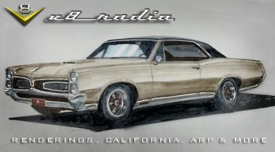 Cover art for Kevin's Trip To SoCal, Car Renderings, The Cars of George Boskovich, The Latest From ARP, Automotive Trivia, and More on the V8 Radio Podcast!
