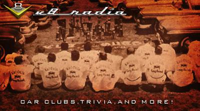 Cover art for Q's Crash, Camping, Car Clubs, Automotive Trivia, and More on the V8 Radio Podcast